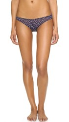 Only Hearts Club Midnight Daisy Bikini Panties Floral Velvet Burnout