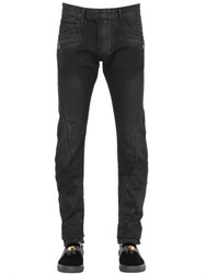 Balmain 17Cm Washed And Waxed Cotton Denim Jeans