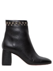 Red Valentino 70Mm Tumbled Leather Ankle Boots