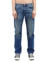 New Season Levi's Vintage Mens Straight Fit 1954 501 Waldorf Washed Selvedge Denim Jeans