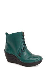 Women's Bionica 'Corset' Bootie Teal Oiled Leather