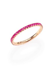 Kwiat Pink Sapphire And 18K Rose Gold Eternity Stacking Ring