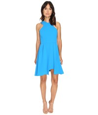 Adelyn Rae Fit And Flare Dress W Pleated Skirt Bright Blue Women's Dress