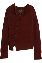 Vivienne Westwood Anglomania Art Knitted Wool Blend Cardigan Merlot
