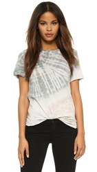 Raquel Allegra Slim Tee Dirty White And Grey Tie Dye