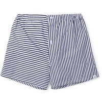 Sleepy Jones Jasper Striped Cotton Boxer Shorts Blue