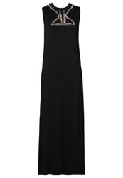 April May Oak Maxi Dress Black