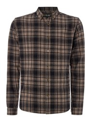 Only And Sons Checked Long Sleeve Shirt Black