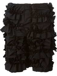 Comme Des Garcons Ruffled Shorts Black