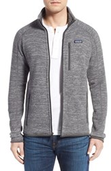 Men's Patagonia 'Better Sweater' Zip Front Jacket Nickel Forge Grey