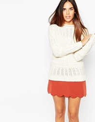 Warehouse Cable Knit Jumper Cream
