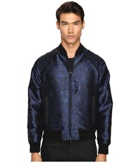 Just Cavalli Woven Printed Sports Jacket Blue Black Men's Jacket