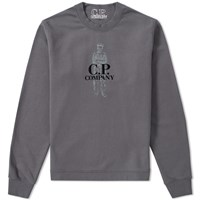 C.P. Company Sailor Logo Crew Sweat Grey
