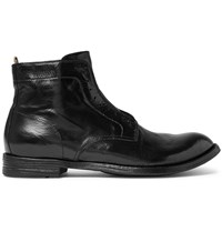 Officine Creative Anatomia Polished Leather Derby Boots Black
