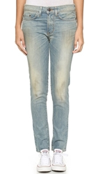 6397 Loose Skinny Jeans Dirty Faded Blue Green