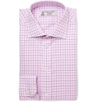 Turnbull And Asser Slim Fit Check Cotton Shirt Pink