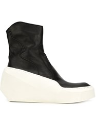 Julius Wedge Boots Black