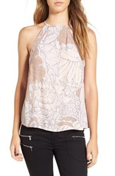 Leith Women's Floral Print Inset Tank