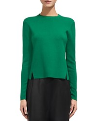 Whistles Side Slit Knit Sweater Green