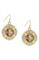 Women's Louise Et Cie Pave And Cushion Cut Crystal Drop Earrings