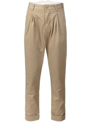 Engineered Garments 'Willy Post' Tapered Trousers Nude And Neutrals