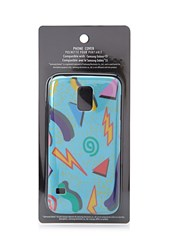 Forever 21 Men Abstract Geo Case For Samsung Galaxy S5 Blue Yellow