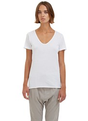 Bassike Scoop Neck Short Sleeved T Shirt White