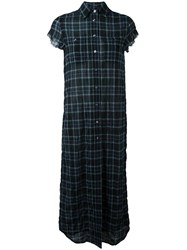R 13 R13 Checked Dress Black