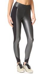 Koral Curve Crop Leggings Gunmetal Black