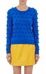 Lisa Perry Pom Pom Sweater Blue