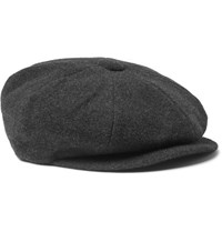 Lock And Co Hatters Muirfield Virgin Wool Cashmere Blend Newsboy Cap Charcoal