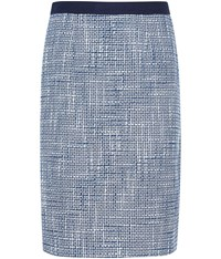 Austin Reed Blue And White Tweed Skirt