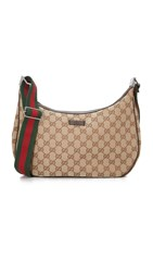 Wgaca Gucci Canvas Round Messenger Bag Previously Owned Brown