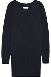 Jil Sander Oversized Wool And Cashmere Blend Mini Sweater Dress