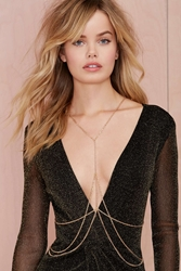 Nasty Gal Heart Of Gold Body Chain