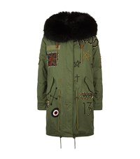 Jane And Tash Darling Beaded Long Parka Female Green