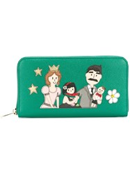 Dolce And Gabbana 'Dauphine' Patch Wallet Green