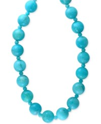 Effy Collection Effy Amazonite 12 And 4Mm Bead Statement Necklace In 14K Gold Blue