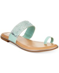 Bar Iii Vienna Flat Toe Thong Sandals Women's Shoes Mint Silver
