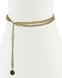 Neiman Marcus Double Swag Chain Belt Shiny Gold