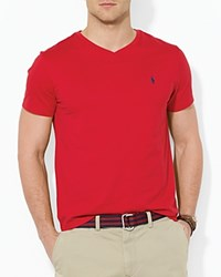 Polo Ralph Lauren Cotton V Neck Tee Red