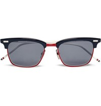 Thom Browne D Frame Acetate Sunglasses Navy