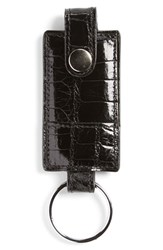 Men's Boconi Alligator Key Fob Black