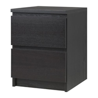 Malm Chest Of 2 Drawers Black Brown Ikea