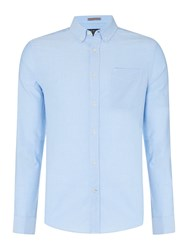 Howick Classic Plain Regular Fit Oxford Shirt Sky