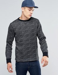 Another Influence Space Dye Sweater Black