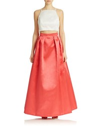 Xscape Evenings Two Piece Tank And Skirt Gown White Coral