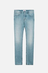 Ami Alexandre Mattiussi Faded Slim Fit Jeans Blue