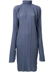 Strateas Carlucci Pleated Funnel Neck Tunic Grey