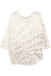 Raquel Allegra Tie Dyed Cotton Blend Jersey Top Cream
